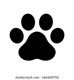 dog paw footprint icon logo vector french bulldog cartoon symbol character illustration design