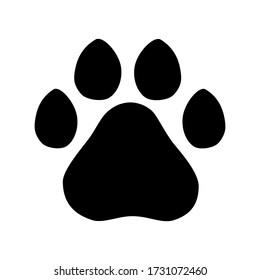dog paw logo  on a white background