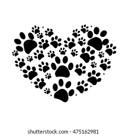Paw Print Heart Images Stock Photos Vectors Shutterstock ✓ free for commercial use ✓ high quality images. https www shutterstock com image vector dog paw print made heart vector 475162981