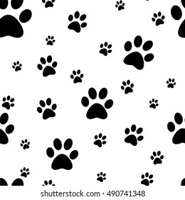 Cool Dogs in Outfits Paw Print Pattern License Plate Tag Frame
