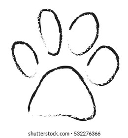 Dog Paw Draw Images Stock Photos Vectors Shutterstock