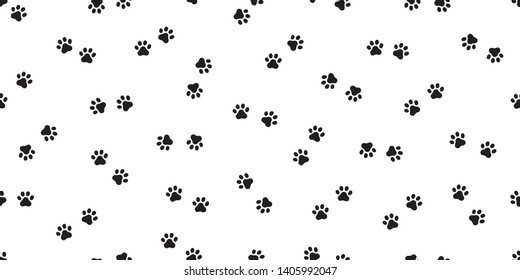 Dog paw seamless pattern vector footprint french bulldog pet cartoon scarf isolated repeat wallpaper tile background doodle illustration