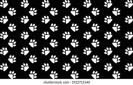 dog paw seamless. paw print pattern