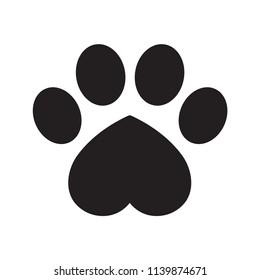 Dog paw vector footprint icon logo symbol graphic illustration french bulldog cat bear cartoon