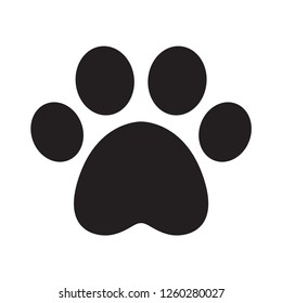 dog paw vector footprint icon logo french bulldog cat puppy cartoon symbol sign illustration doodle