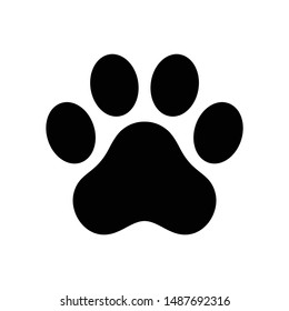 dog paw vector footprint icon french bulldog cartoon character symbol illustration doodle design