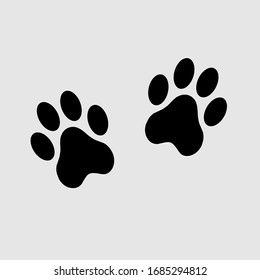 dog paw vector footprint icon . Paw icon vector. Paw Print icon background