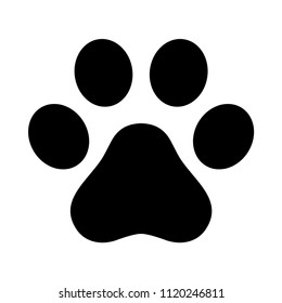 Dog paw vector footprint logo icon symbol graphic illustration french bulldog cat cartoon