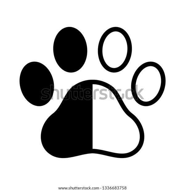 Dog Paw Vector Footprint Logo Icon Stock Vector Royalty Free