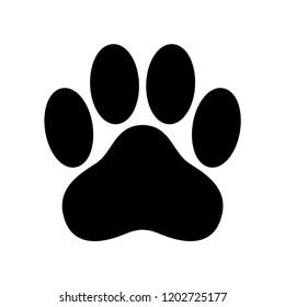 dog paw vector icon logo footprint cat bear cartoon illustration clip art french bulldog