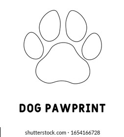 Dog pawprint vector icon on white background. Flat vector dog pawprint icon.