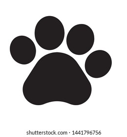 Dog pawprints icon vector in modern flat style