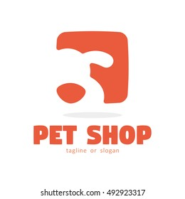 DOG PET SHOP SIMPLE LOGO ICON SYMBOL TEMPLATE