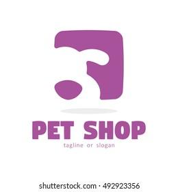 DOG PET SHOP SIMPLE LOGO ICON SYMBOL TEMPLATE
