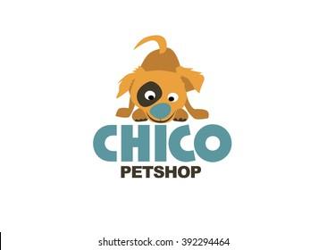 Dog pet store logo