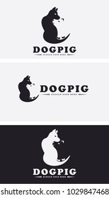 Dog and Pig Pets Logo