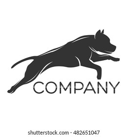 Dog Pitbull logo