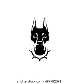 dog portrait logo icon clip art vector illustration