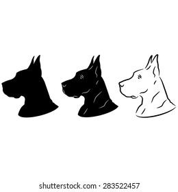 Dog Portrait Silhouette