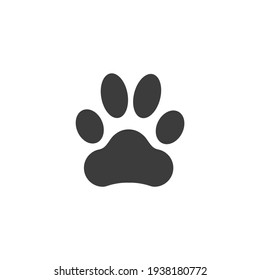 Dog Print Icon Isolated on Black and White Vector Graphic