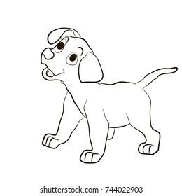 Cartoon Dog Outline Images Stock Photos Vectors Shutterstock