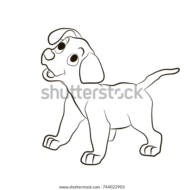 Dog Puppy Smiling Funny Animals Coloring Stock Vector Royalty Free Rhshutterstock: Coloring Pages Funny Animals At Baymontmadison.com