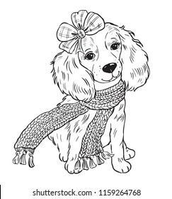Dog Coloring Page Images Stock Photos Vectors Shutterstock