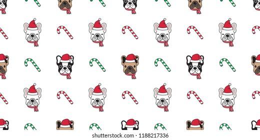 dog seamless pattern christmas vector 260nw 1188217336