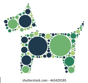dog shape vector design by color point