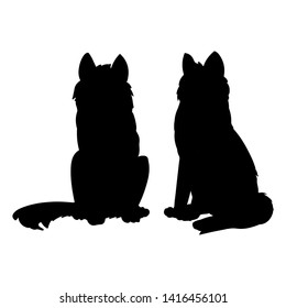 Dog silhouette. Domestic animal or pet