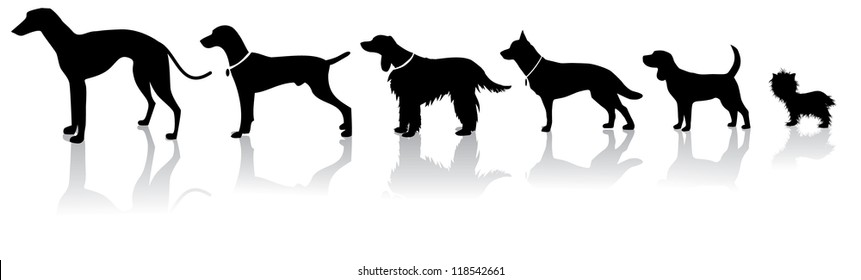Dog silhouette icons