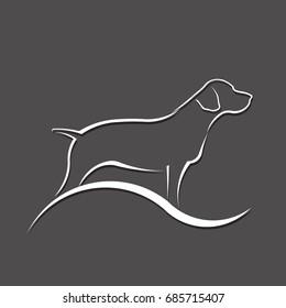 Dog Silhouette Logo. Vector Illustration