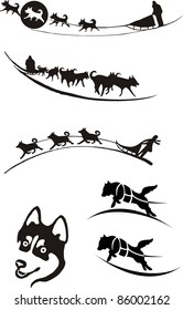 dog sledding, logo,