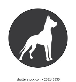 DOG SYMBOL illustration vector
