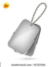 Dog tags isolated on white
