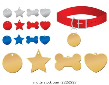 Dog Tags-designer can add own message such as license, rabies, pet name