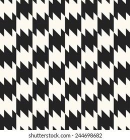 Dog tooth motif check seamless pattern. Vector.