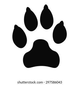 Dog track black icon, logo, silhouette isolated on white background. Vector illustration.