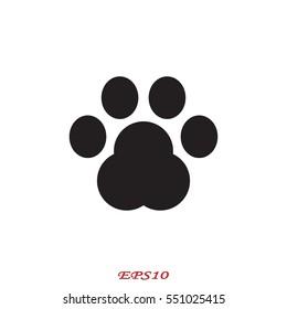 dog track, icon, vector illustration eps10