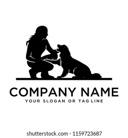 Dog training logo ideas on a white background become a brand symbol for your business, the concept of dog training icons