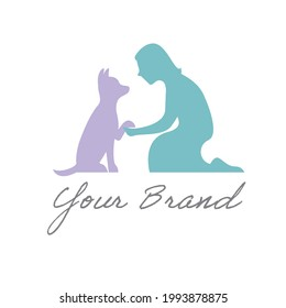 Dog Training Logo, Pet Business, Veterinary, Pet Shop, Animal Training, Dog and Owner, Canine and Human
