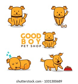 Dog vector character. Cute dog