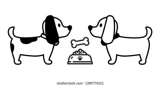 dog vector french bulldog bone icon bowl food cartoon character puppy logo illustration