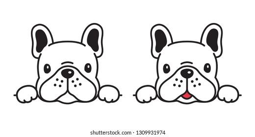 dog vector french bulldog icon character cartoon puppy smile logo symbol illustration doodle white