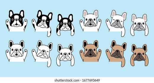 dog vector french bulldog icon pet puppy cartoon character symbol illustration doodle design