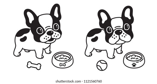 dog vector french bulldog logo icon baseball bowl cartoon illustration character symbol