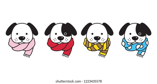 dog vector french bulldog scarf polka dot stripes puppy head cartoon character logo illustration