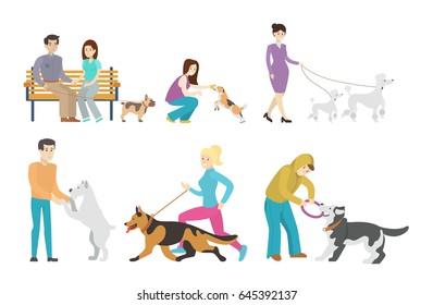 Dog walking set.