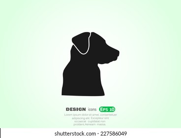 dog, web icon. vector design