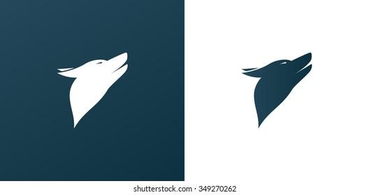 Dog/ Wolf Logo Icon Background - Isolated Illustration